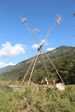 Ljuljačka od bambusa (foto: Ivana Rešetnik)
